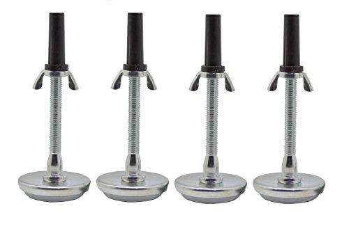 Kings Brand Adjustable 5.8' Threaded Bed Frame Riser Glide Legs, Set of 4...