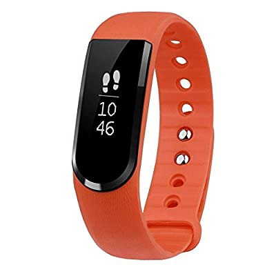 LETSCOM Fitness Tracker, IP67 Waterproof Activity Tracker with Step Tracker/Sleep Monitor/Message Notification Fitness Wristband Watch, Pedometer for Android and iOS Phone