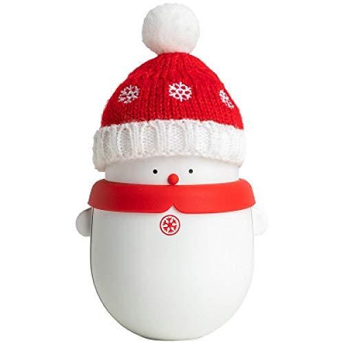 IPRE Ricaricabile Hand Warmer, 6000mah Snowman USB Hand Warmers Riusable Due in Un Doppio Lato Riscaldamento Portatile Elettrico scaldamani Migliori Regalo in Inverno per Le Donne White