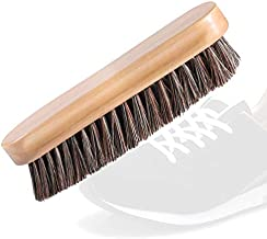 a amvontz Suede Shoe Brush Cleaning: Soft Buffing Bristle Swayed Small Complete Wooden Natural Large Refreshed Way Jacket Hair Horse Leather Shine Nubuck Sneakers Polish Horsehair