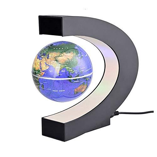 TOPVORK Globo Flotante Magnético Levitación en Forma de C Colorido LED Mapa del Mundo Decoración del Hogar