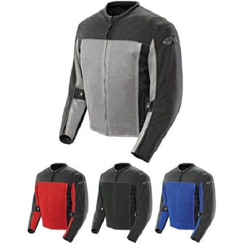 Joe Rocket Velocity Men's Mesh Riding Jacket (Black, Medium)