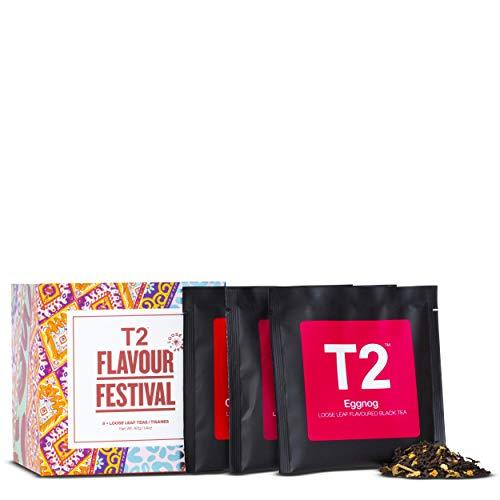 T2 Tea- Flavour Festival, Assorted Tea Sampler Gift Pack, 8 Loose Leaf Sachets