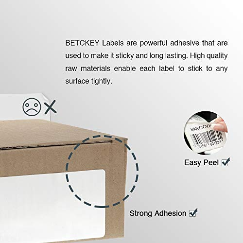 """BETCKEY - Compatible DYMO 30256 (2-5/16"""" x 4"""") Replacement Shipping Labels - Compatible with Rollo, DYMO Labelwriter 450, 4XL & Zebra Desktop Printers[1 Rolls/300 Labels] Photo #4"""