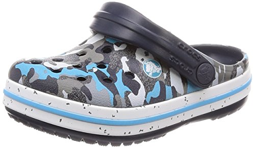 Crocs Unisex-Kinder Crocband Speck Kids Clogs, Blau (Blue Camo), 20/21 EU