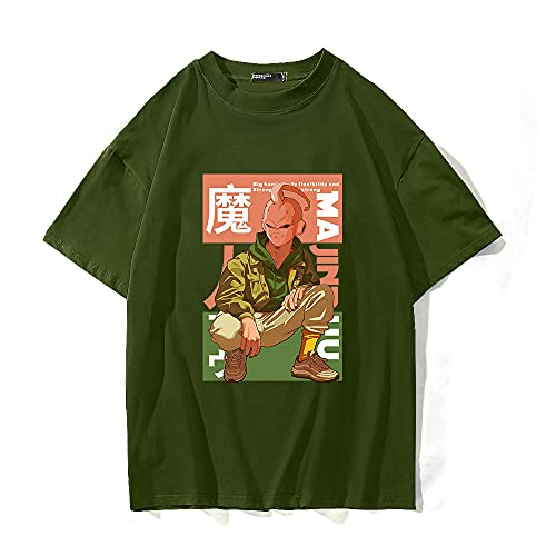 SHIQI-DYMX Dragon Ball Camisetas Hombre Mujer Camisetas Diseño Casual Harajuku Verano Manga Corta O Cuello Tops Camisetas,XXL