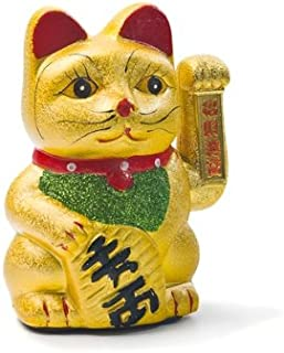 yoaxia ® - Keramik Glückskatze 21cm Winkekatze Maneki Neko