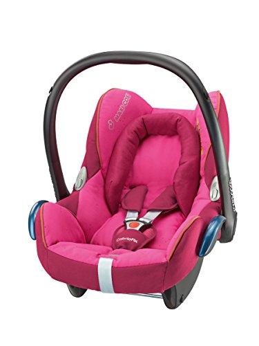 Maxi-Cosi Cabriofix Babyschale Gruppe 0+ (0-13 kg), Kollektion 2015, berry pink, mit Isofix
