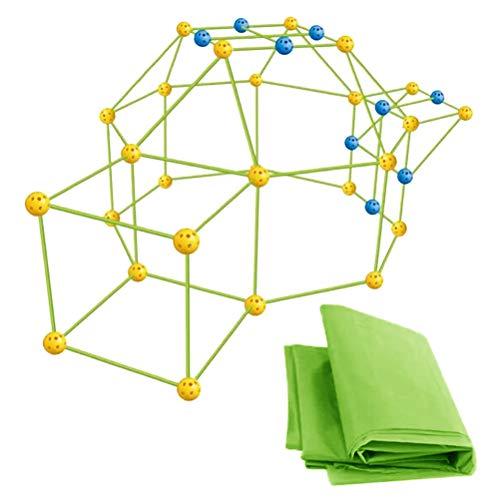 Ububiko Baukastenzelt (mit Zelt), Bauspielzeug, Bauen Sie Ihre Hütte, Baufestung, Kinderzelt, Spielhäuser für Kinder