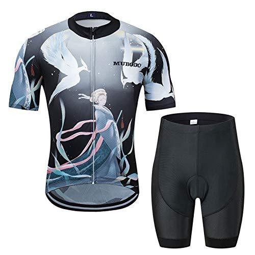 ZMJ Conjunto de Maillot de Ciclismo para Hombre, Camisetas de Manga Corta...