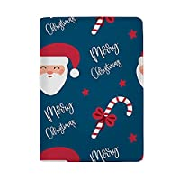 ZHIMI パスポートケース ホルダー パスポートカバー メリークリスマスサンタパターン スキミング防止 高級レザー 多機能 トラベルウォレット エアチケット 名刺 クレジットカード収納 おしゃれ レディース メンズ 海外旅行 出張