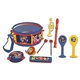 Patrulla Canina Chase Marshall Juguete Musical, Conjunto de 7 instrumentos Musicales, 7 instrumentos (Tambor, Maracas, Castañeta, Armónica, Grabadora, Trompeta, Pandereta), juguete conveniente para