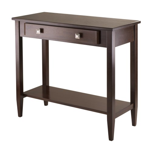 Richmond Console Table With Tapered Leg Walnut Finish - Winsome