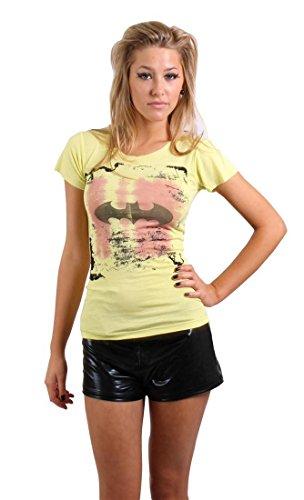 Religion, Damen Top T-Shirt Batman, Smart Yellow (XS, Gelb)
