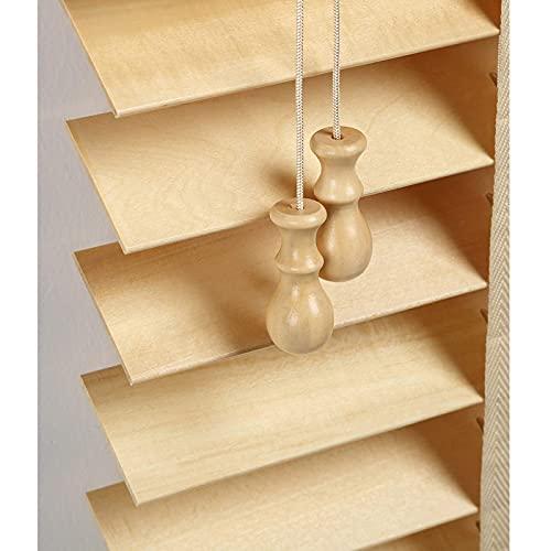 JJYY Persianas de Madera para Interiores, persianas venecianas con cordón, Parasol/Transpirable, persianas de Madera auténtica, fácil elevación, 50x80cm / 20x31in