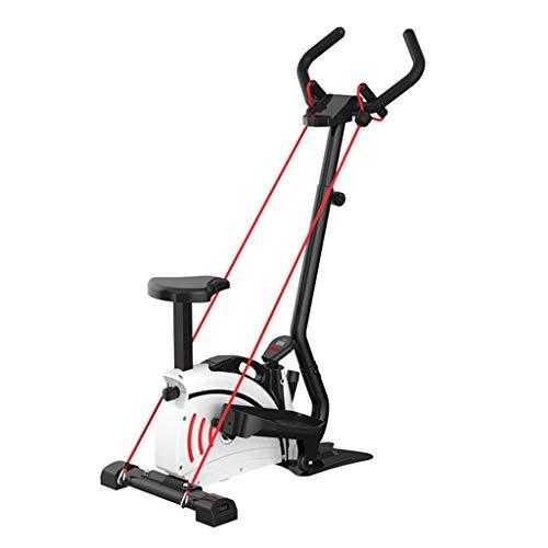 Elípticas Paso a Paso Oval Hogar Moto silenciosa Bicicleta de Ejercicio de Interior Equipo de la Aptitud Can 120kg Oso (Color : Black, Size : 73.5 * 48 * 120cm)