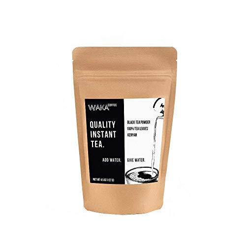 Waka Coffee Quality Instant Tea, Kenyan, Black Tea Powder | 100% Tea Leaves, No Artificial Ingredients, 225 Servings in a 4.5 oz Bag | Add Water, Give Water