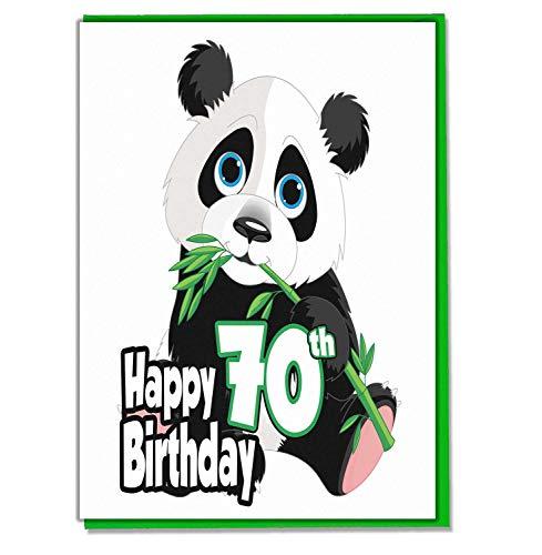 Panda 70e verjaardagskaart - Dames - Heren - Dochter - Zoon - Vriend - Echtgenoot - Vrouw - Broer - Zuster - Moeder - Papa