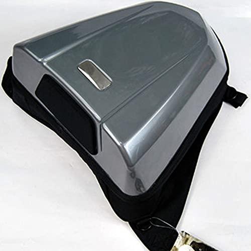 Bolsa trasera para motocicleta, bolsa de plástico de alta resistencia, asiento trasero con joroba, paquete de paquete trasero, mochila trasera duradera para motocicleta impermeable de 6 colores(Gray)