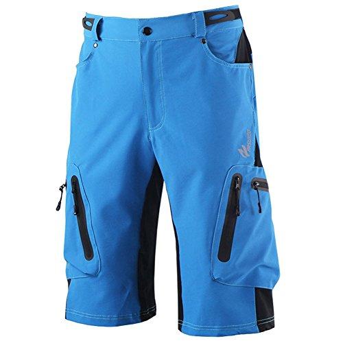 GITVIENAR Herren saugfähige Radsport Hose Strumpfhose Stoßdämpfende Sport-Hose professionelle Bergsteigen Campingplätze Wandern MTB Radfahren Hose