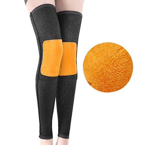 Afinder 1 par hombres mujeres invierno térmico elástico calentadores de la pierna rodilla tirantes acogedor cálido largo rodilla pierna apoyo protector para esquí ciclismo runing artritis Tendinitis