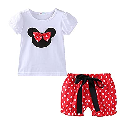 Mud Kingdom Toddler Girls Holiday Outfits Cute Clothes Short Sets 24M Red