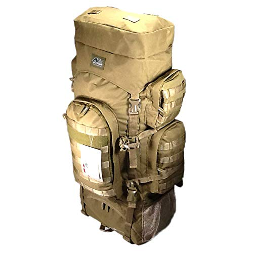 """34"""" 5200 cu. in. Tactical Hunting Camping Hiking Backpack THB001 TAN"""