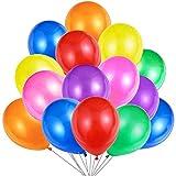 Jonami 50 Mehrfarbige Luftballons Bunt Helium, Ballon Bunte Latex Premiumqualität 36 cm Partyballon Deko Bunte 3,2 g Dekoration fur Geburtstags
