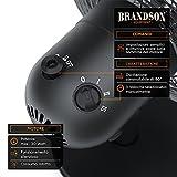 Immagine 2 brandson ventilatore da tavolo blackline