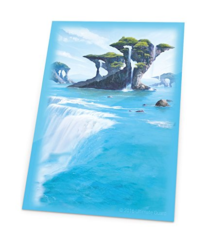 Ultimate Guard Magic The Gathering Sleeves Lands Edition Card Game (80 Pack), Island, One Size