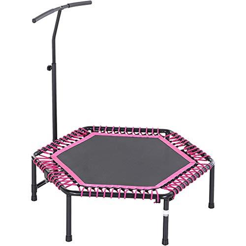 MAFENG Portátil pequeño Ejercicio trampolín, trampolín Plegable de los niños, con 3-Nivel Ajustable T-Bar, Tranquilo y Flexible, Base de Goma, Antideslizante y Transpirable