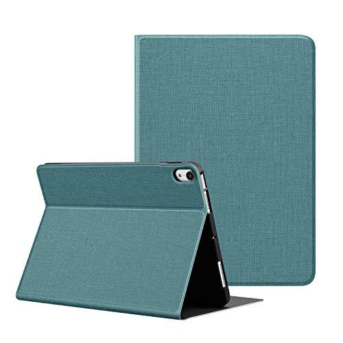 OLAIKE Funda de Tela para el Nuevo iPad Air4 10.9'Versión 2020, admite Carga inalámbrica con lápiz, diseño de Cubierta de Libro, Soporte Triple liviano con Reposo/activación automático,Verde Menta