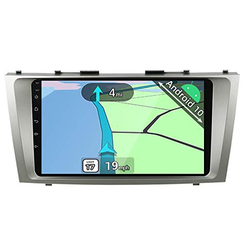 YUNTX Android 10 Double Din Car Stereo Fit for Toyota Camry(2006-2011) [2G+32G] Car Navigation Head Unit with Free Rear Camera| Support GPS|DAB+ |SWC|Bluetooth| Mirrorlink| USB| WiFi| Carplay