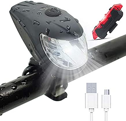 4212fe14614 WasaFire Bike Lights Set- Front Light  Tail Light USB Rechargeable