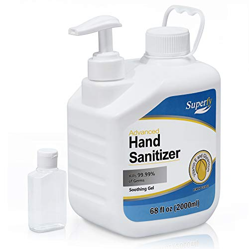 Superfy hand sanitizer Gel 0.5 Gallon refill with Pump, Big...