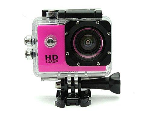 BEST SHOPPER 12MP Full HD 1080P Helmet Sports Action Waterproof Car Camera WiFi Camcorder - Pink