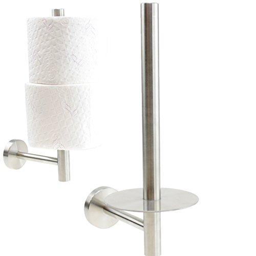WC Ersatzrollenhalter Rollenhalter Toilettenpapierhalter Edelstahl Wandmontage Bad Zubehör