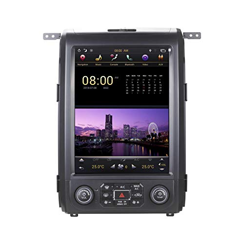 for 2009-2014 Ford F150 F-150 Android 12.1' Tesla Style Vertical Radio Screen Navigation Display Head Unit with CarPlay 2009 2010 2011 2012 2013 2014 F150 (Type 1, OEM Radio with SYNC)