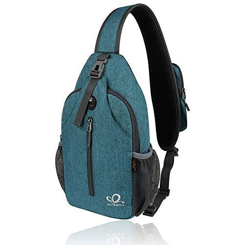 WATERFLY Sling Bag Crossbody Bag Schultertasche Damen und Herren für Wandern Radfahren Bergsteigen Reise Daypack…
