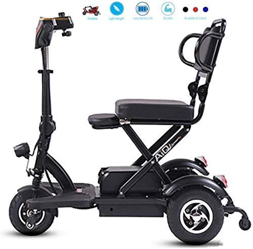 HFJKD Elektrorollstuhl Mini-Elektrorollstuhl für ältere Menschen mit Behinderungen Elektrisches Dreirad für Privathaushalte Motorroller mit doppeltem Differentialantrieb Lithiumbatterie-