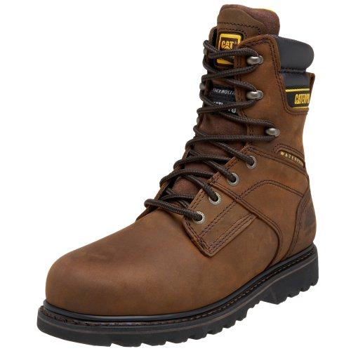 Caterpillar Men's Salvo 8' Waterproof Steel Toe Boot,Dark Brown,10.5 W US