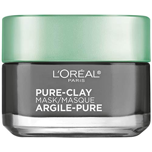 L'OrÃal Paris Skincare Pure-Clay Face Mask with Charcoal for Dull Skin to Detox & Brighten...