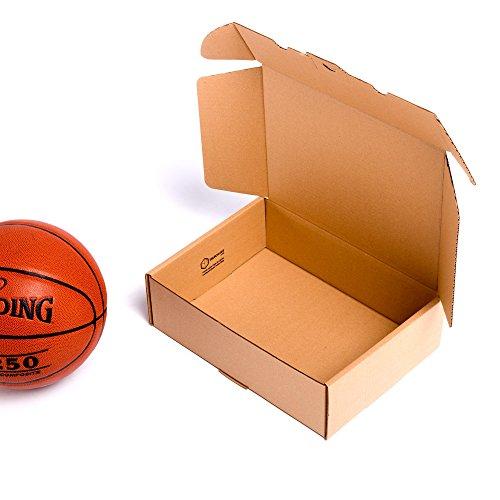 TeleCajas® | (25x) Caja de Cartón Postales Kraft | Cajas Automontables con Tapa para Almacenaje | Medidas: 35x25x10 cms | Lote de 25 uds