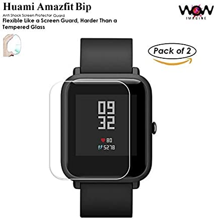 WOW Imagine Unbreakable Nano Film Glass [ Flexible Like a Screen Guard, Harder Than a Tempered Glass ] Screen Protector for HUAMI AMAZFIT BIP/AMAZFIT BIP LITE Lite SmartWatch - (Pack of 2)