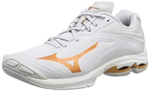 Mizuno Wave Lightning Z6, Zapatos de Voleibol Mujer, Blanco (Nimbus Cloud/10135c/Wht 52), 40 EU