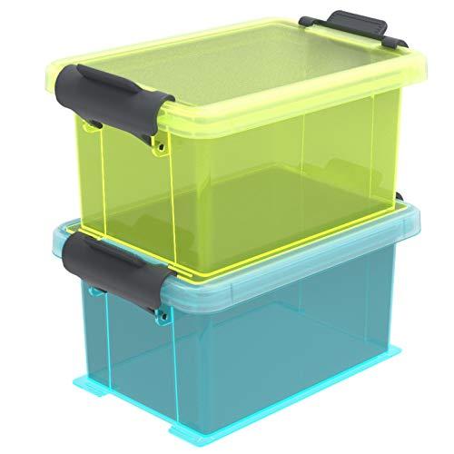Rotho Funcenter 2er-Set Sortierbox 0,35l mit Deckel, Kunststoff (PP) BPA-frei, mehrfarbig, 2 x 0,35l (12,7 x 8,5 x 12,9 cm)
