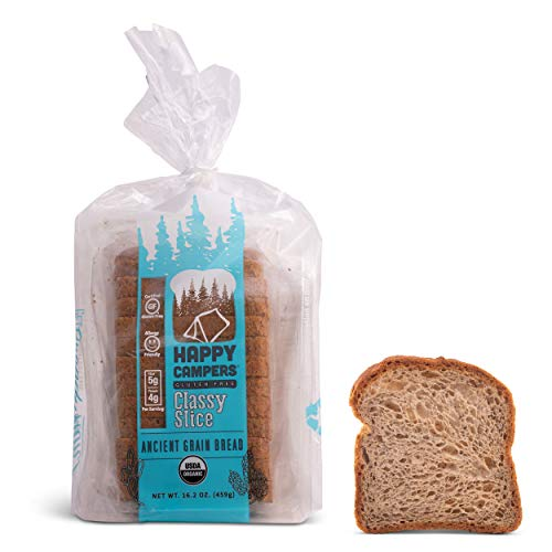 Happy Campers Classy Slice Gluten Free Bread, Organic, Non-GMO, Vegan, 16.2 oz Loaf (Pack of 6)