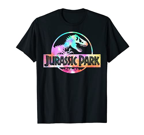 Jurassic Park Logo Tie Dye Gloss Graphic T-Shirt