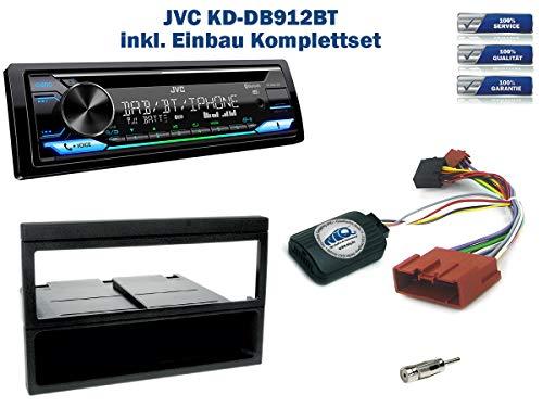 Autoradio Einbauset geeignet für Mazda MX-5 inkl. JVC KD-DB912BT DAB+ & Lenkrad Fernbedienung Adapter in Schwarz