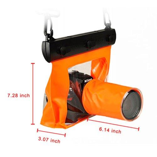 Goliton Waterproof DSLR Camera Accessories Bag Pack Case for Canon 5d Nikon D7000 - Orange